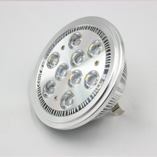 Ar111 G53 Aluminum Led Background Lamp Spotlight Indoor Bulb Energy Saving Light 9W 12V DC
