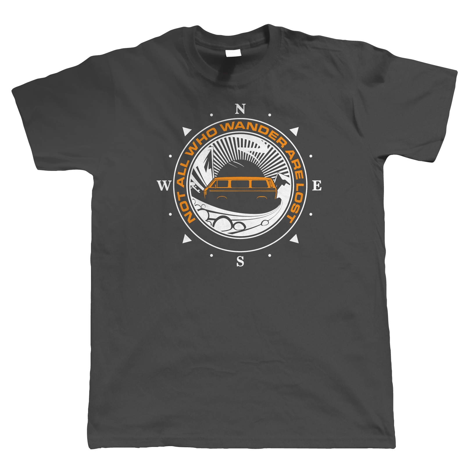 Not All Who Wander Are Lost Campervan T Shirt, T25 Campinged Gift for Him Dad