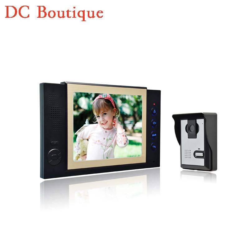 (1 set) Latest Video intercom Smart Home system 8 Inch panel HD night version Video door phone waterproof camera Door bell