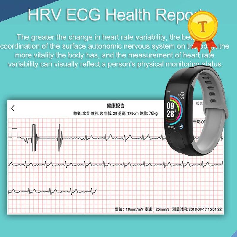 IP67 blood pressure wristband heart rate monitor HRV PPG ECG smart bracelet Activity fitness tracker Sports