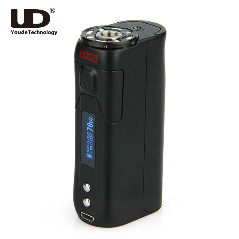 Latest Original UD BALROG TC MOD 70W E-cigarette TC mod 18650 Vape Box Mod TC/VW modes with OLED Screen without Battery e cigarette mod aspire pegasus 70w tc box mod 0 86 inch display vaping mod fit rta rdta vape tank without 18650 battery mod