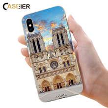 CASEIER Notre Dame de Paris Phone Case For iPhone X XR XS MAX Ancient Building Case For iPhone 7 8 6 6s Plus 5 5S SE Cases Cover цена и фото