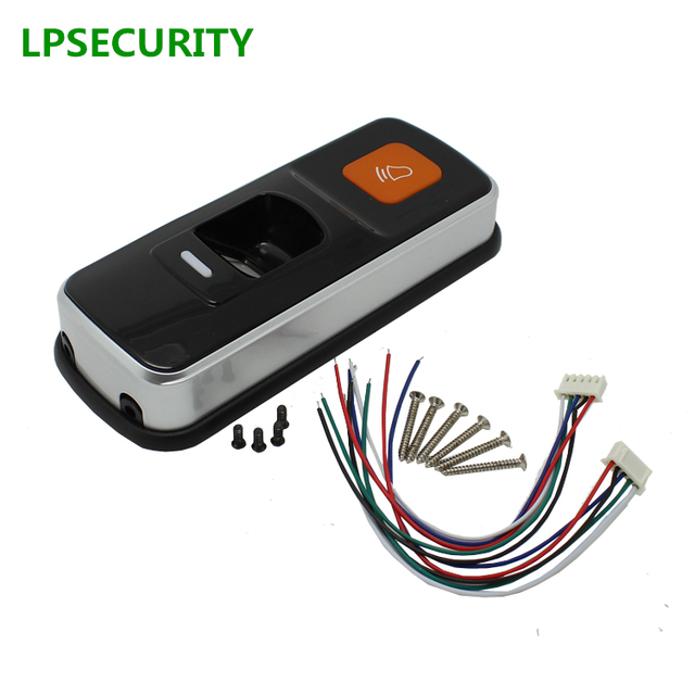 LPSECURITY แบบสแตนด์อโลน RFID ลายนิ้วมือ Access Control Reader เดี่ยวลายนิ้วมือ biometrics Access Controller ประตูล็อคที่เปิด