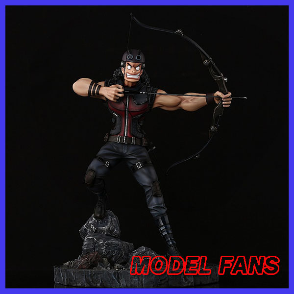 MODEL FANS IN-STOCK one piece Hawkeye Usopp GK resin figure for Collection model fans in stock 40cm one piece edward newgate fighting pose gk resin statue for collection