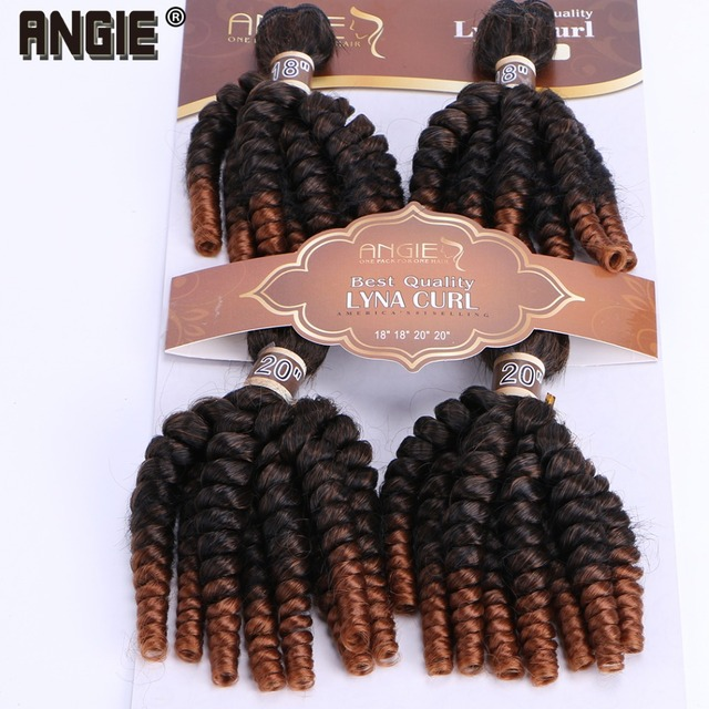 Angie Ombre Funmi Synthetic Hair Weaves 4 Bundles One Pack Two Tone
