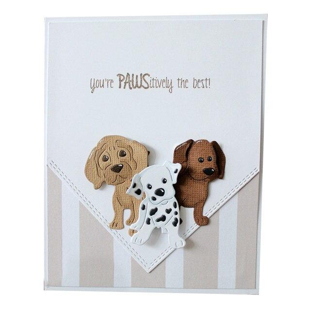 3 יח'\סט חמוד גורי גור כלב כלבים מתכת חיתוך מת סטנסיל עבור DIY רעיונות אלבום תמונות הבלטות נייר כרטיסי ביצוע
