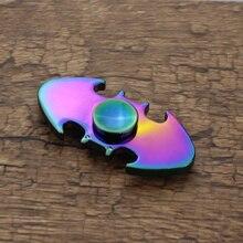 สายรุ้งที่มีสีสันประเภทค้างคาวแบทแมนTri-ปินเนอร์โลหะปลายนิ้วGyroออทิสติกอยู่ไม่สุขปินเนอร์โลหะผสมEDCมือปั่นออทิสติกสมาธิสั้นของเล่น