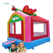 Pink Inlfatable Bouncy House With Butterfly For Girls