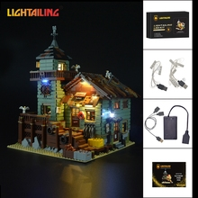 LIGHTAILING Led Light Up Kit Para Loja De Pesca Antigos Modelo Building Block Set Luz Compatível Com 21310 E 16050