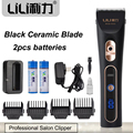 Professional Hair Trimmer Black Ceramic Blade Electric Hair Clipper Cutting Machine Extra Battery fast charging