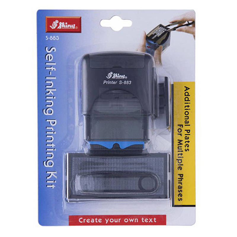 New Arrival S883 Self Inking Rubber Stamp Custom Shiny Office Stationary Business Mini Stamper Printing Kit