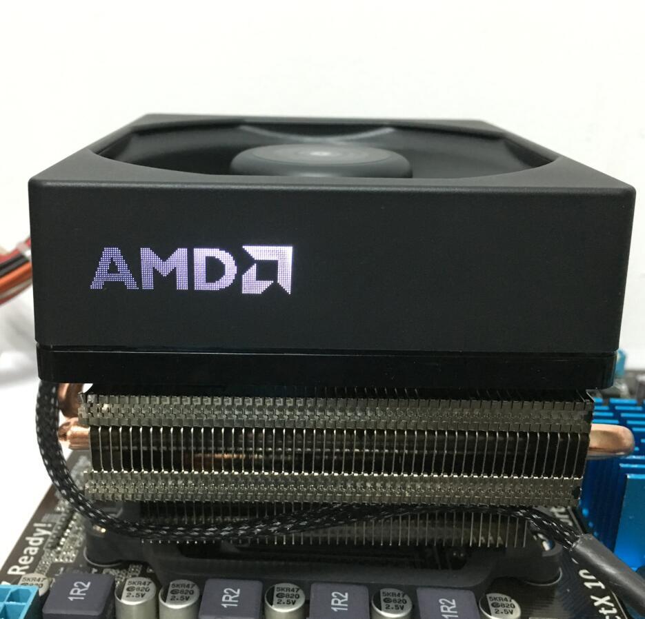 AMD FX-Série FX-8350 8300 En Boîte CPU processeur D'origine Refroidisseur ventilateur dissipateur de chaleur 4 Lignes En Laiton radiateur Refroidisseurs fans radiateur ventilateur