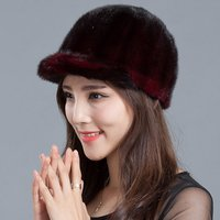 Winter Hats Leather Women S Strawhat Mink Hair Knight Cap Winter Thickening Cap Thermal