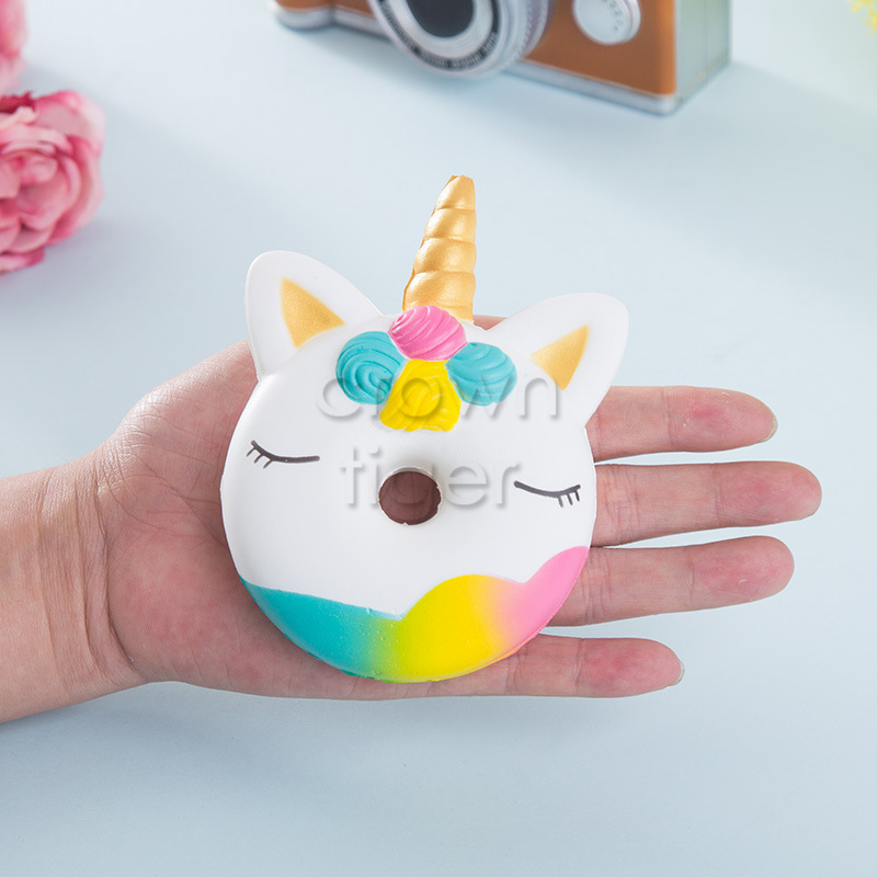 Kawaii 12cm Big Squishy Donut Unicorn Jumbo Squishy Slow Rising Pink Unicorn Doughnut Squeeze Fun Toy For Children Antistress #4
