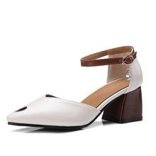 Hersevll Большие размеры 34–44/45/46 женские босоножки новые тенденции моды сзади на высоком каблуке сзади поездки ремень выдолбленные толстые Сандалии на каблуке