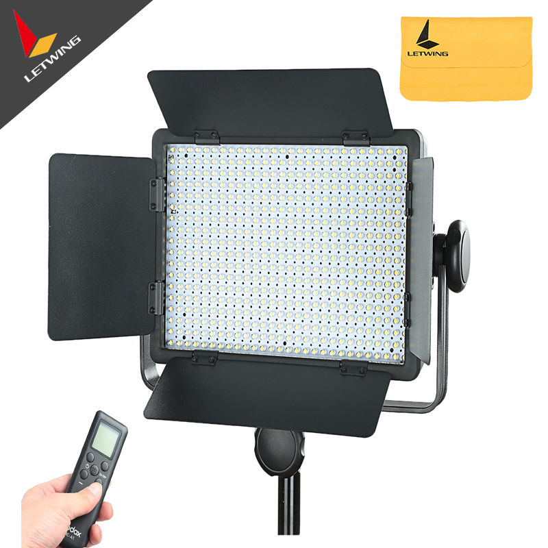 Godox 500 LED Studio Video Continuous Light Lamp For Camera DV Camcorder 3300K-5600K -Changeable godox 1000 led studio video continuous light lamp for camera camcorder dv 3300k
