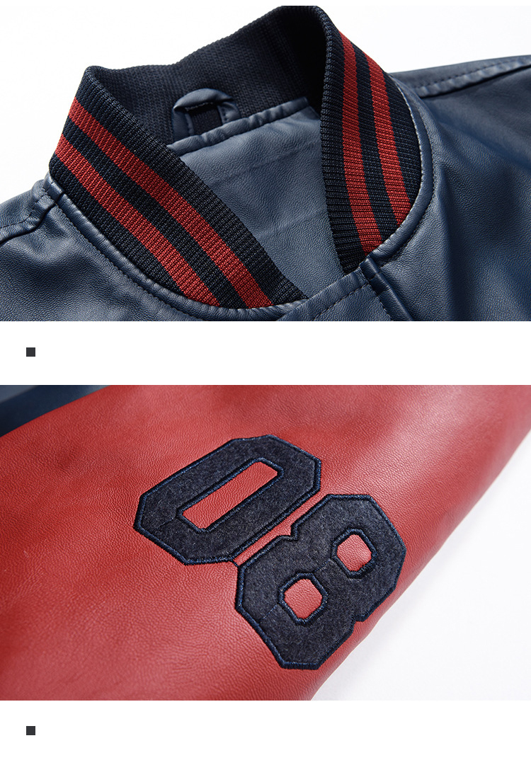 HTB1kQAEgbArBKNjSZFLq6A dVXai New 2019 Brand Embroidery Baseball Jackets Men Pu Faux Leather Jacket Male Casual Luxury Fleece Pilot Letter Stand Bomber Coat