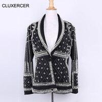 Высококачественные перламутровые блейзеры и куртки с бусинами 2018 роскошные женские элегантные клубный блейзер feminino