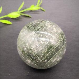 Природные кристаллы сад зеленый фантомный шар фантомный кварцевый ХРУСТАЛЬНЫЙ ШАР СФЕРА образец Коллекция украшения