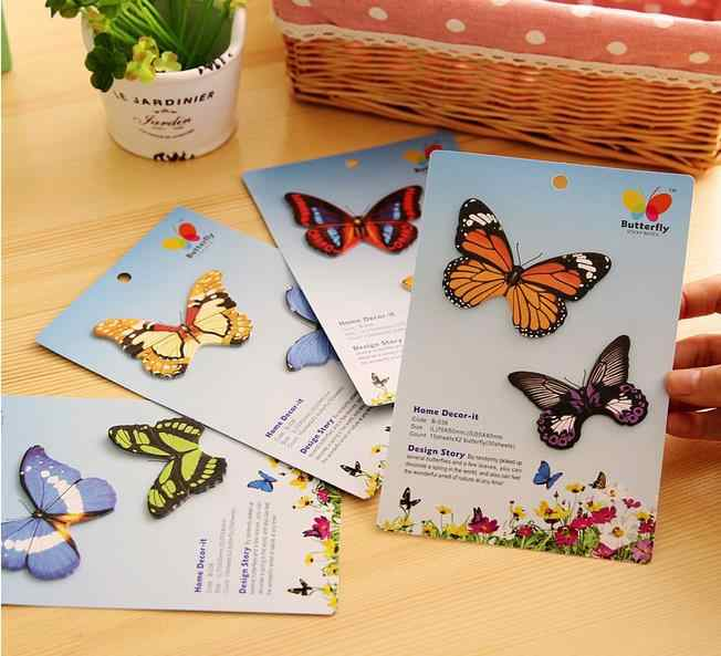 30 Pcs dễ thương đầy màu sắc bướm Decor Stickers fotos hình ảnh khung trang trí Stickers Đối với DIY ảnh sổ lưu niệm album handmade
