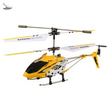 Hot Sale Mini Indoor Co-Axial Metal RC Helicopter with Gyro Yellow