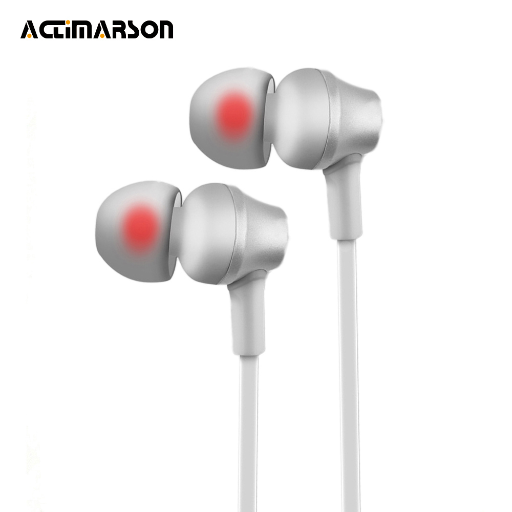 Actimarson In-Ear Metal Earphone Wired Noise Cancelling Earphones Hi-Fi Stereo Bass Headset With Mic For Mobile auriculares