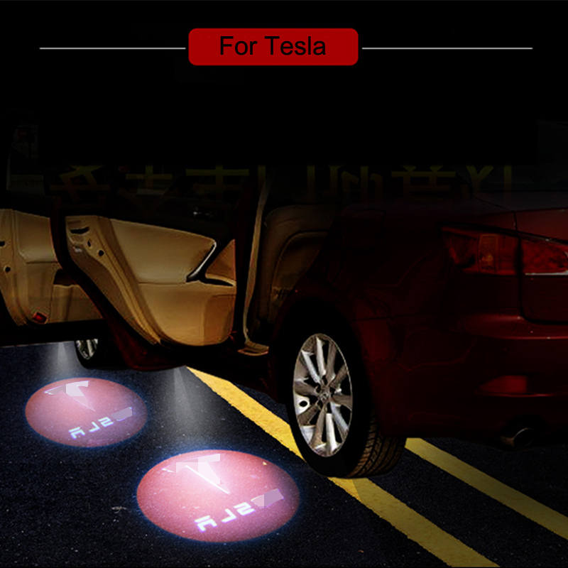 LED Car Welcome Light Ghost Shadow Laser Logo Projector Door Lamp For Tesla MODEL S MODEL X MODEL 3 MODEL Y