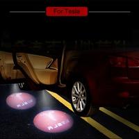 LED Car Welcome Light Ghost Shadow Laser Logo Projector Door Lamp For Tesla MODEL S MODEL X MODEL 3 MODEL Y