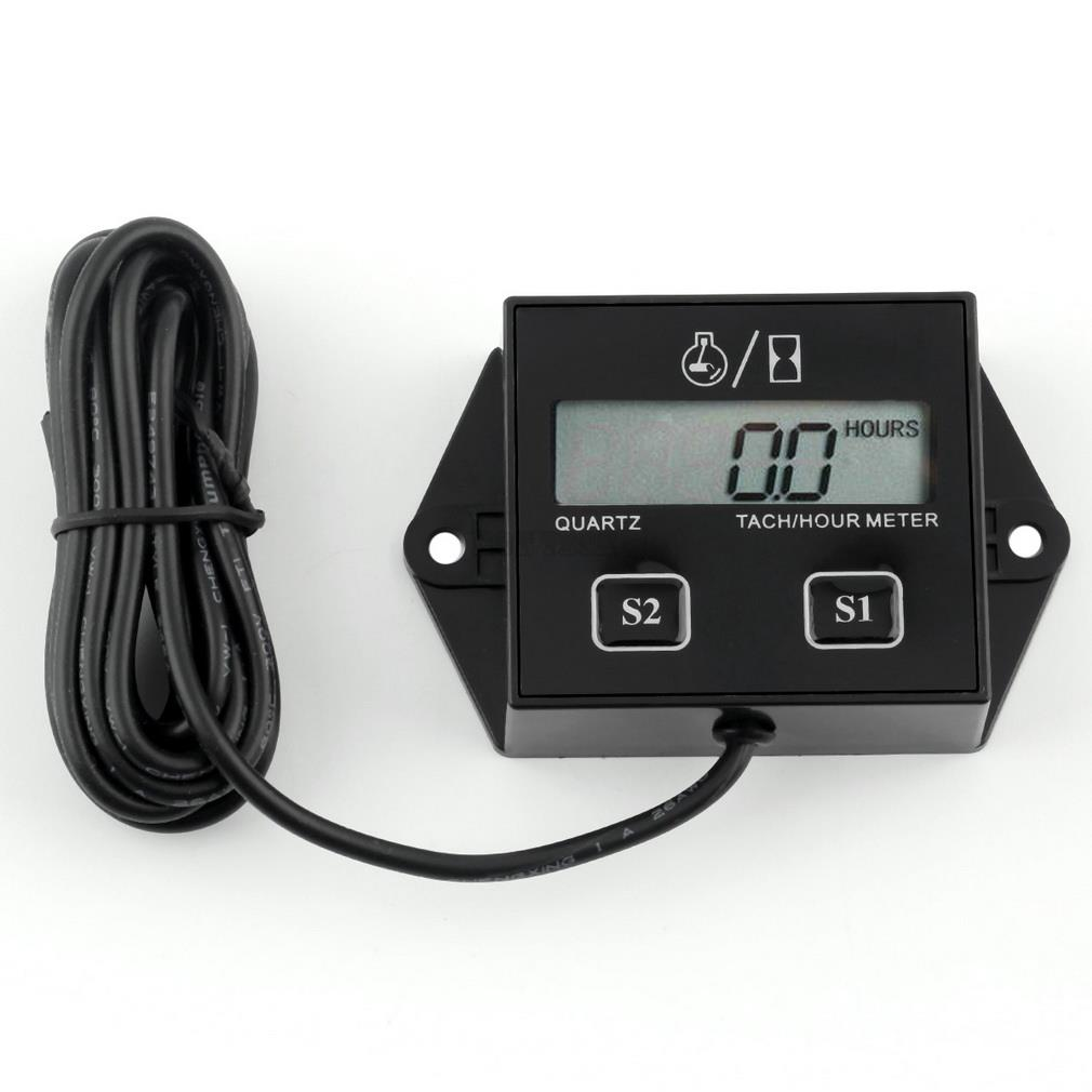 Tirol NEWEST High Quality Digital Engine Tach Hour Meter Tachometer Gauge Inductive For Motorcycle Motor Stroke Engine Spark Hot