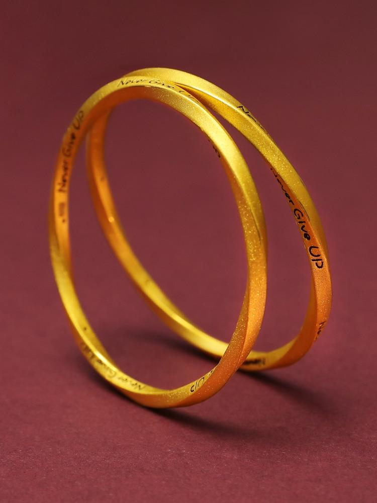 999 Solid Gold Bangle Upscale