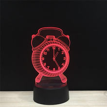 Alarm Clock Ring LED 3D NightLight Acrylic Night Lamp Light Luminary With Touch And Remote Lamps Lights Kids Decoration Mylamp
