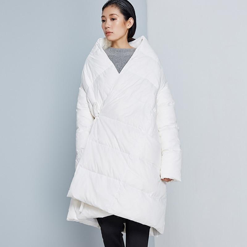 Nouveauté Longue Blanc Bas Veste Robe Une Canard blanc Personnalité Nouvelle 2016 Manteau 90 Vers aigyptos bc rouge Noir Hiver Arrivée Lâche Femmes Ligne Le Z7FpYYqwf