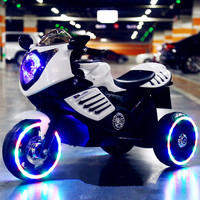 Children's Electric Motorcycle Tricycle 1 8 Y Charging Double Drive with Music LED Light Can Sit Child Ride On Toy Car Rc car