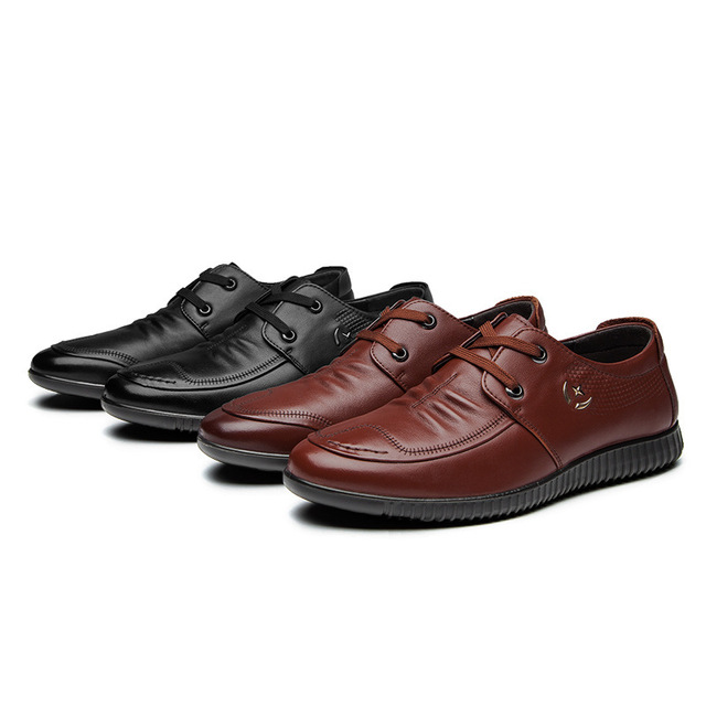 6603 New Fashion Men's Shoes Men's Leisure Leather Shoe Low Top Single Leather Fine Belt Casual Shoes