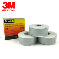 1 Roll (25.4mm*9.1m*0.3mm) 3M tape 70 Self Fusing, Silicone Rubber Heavy Duty Triangular Electrical Tape