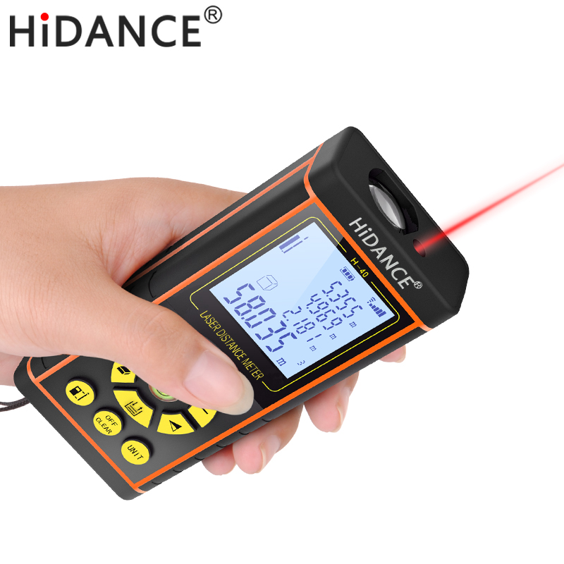 laserová ruleta s reverzním inženýrstvím - HiDANCE laser range finder construction tools distance measurer rangefinder digital optical tape measure laser meter 100m 80m 60