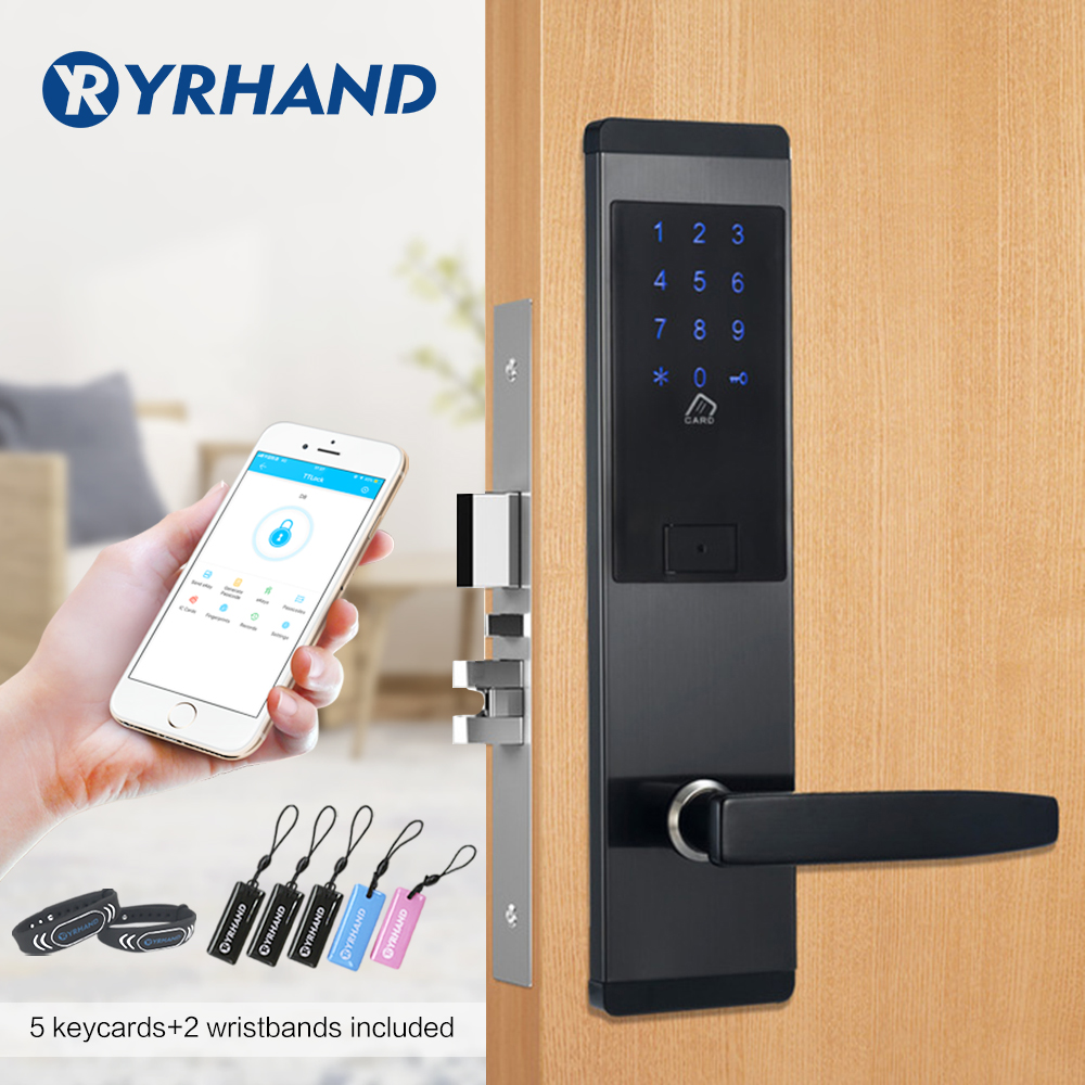 Security Electronic Door Lock, APP WIFI Smart Touch Screen Lock,Digital Code Keypad Deadbolt For Home Hotel Apartment(China)