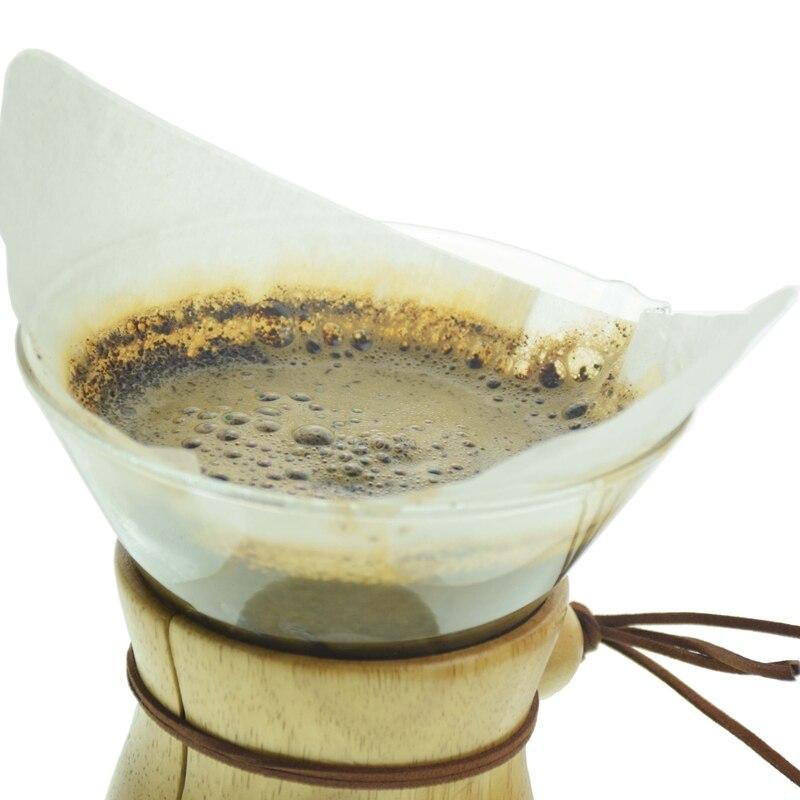 Classic Glass  Pot Paper Filters 3Cups Pot 6Cups Pot Filters Coffee Accessories 40Pcs Per Bag