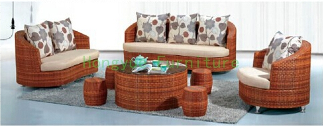 Sala de estar muebles de ratán sofá set sofá de mimbre muebles en ...