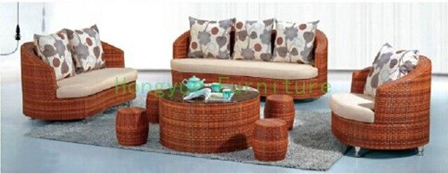 Woonkamer meubels rotan set Rieten sofa meubels in Woonkamer meubels ...