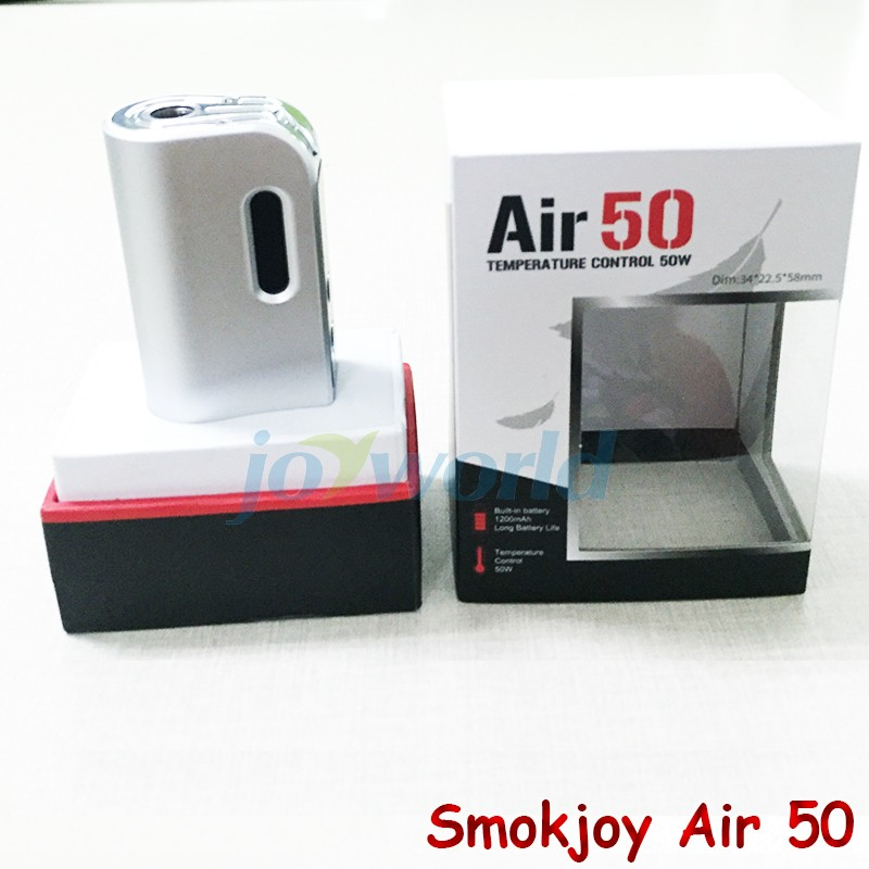 100%Electronic Cigarette Smokjoy Air 50W TC  VW Box Mod 1200mAh Build In Battery 7-50w Tiny Size SmokJoy air 50 VS evod mega YY (9)