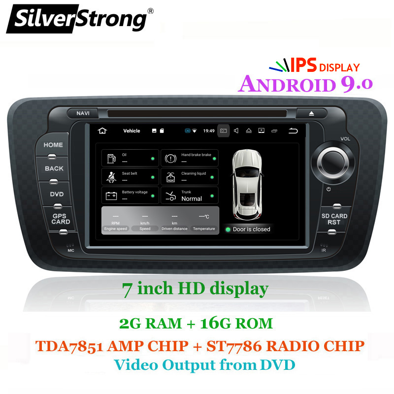 SilverStrong IPS Android9.0 Radio Car DVD for SEAT IBIZA 2009-2014 with best Radio Mirroring Link option DVR DAB Antenna