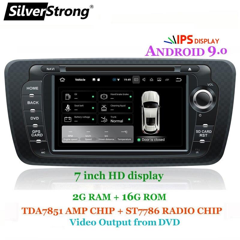 SilverStrong IPS Android9.0 Radio voiture DVD pour SEAT IBIZA 2009-2014 avec la meilleure option de lien de Mirroring Radio antenne DVR DAB