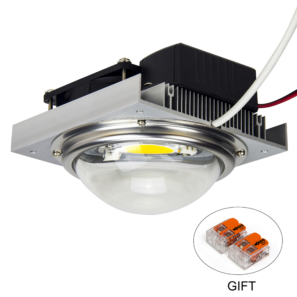 CREE CXB3590 COB LED crecer luz módulo DIY Full Spectrum LED crecer lámpara planta de interior titular Ideal conductor MEANWELL LPC-60-1400