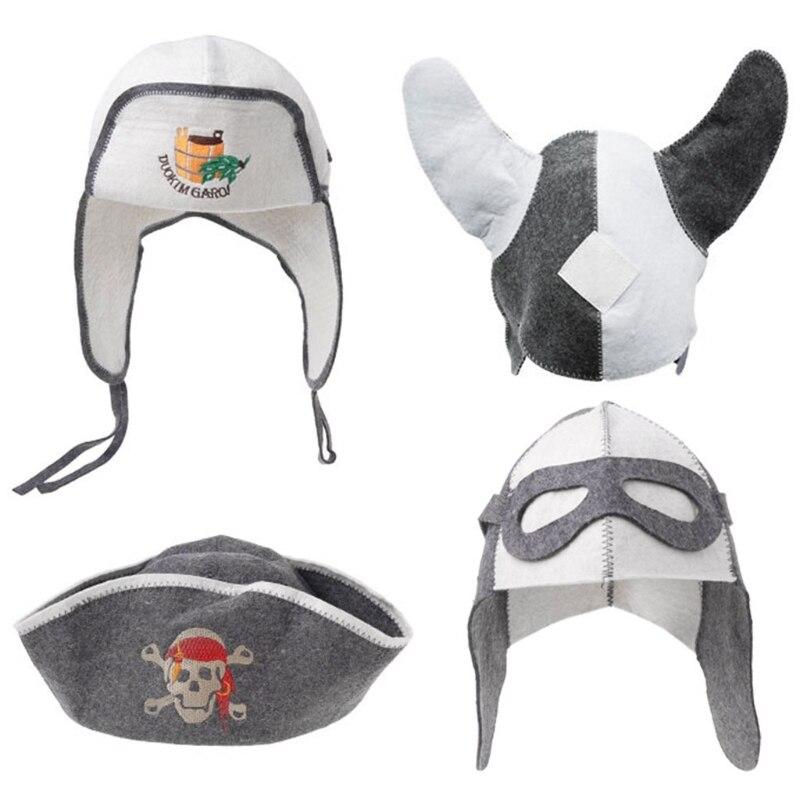 Bonnet en laine feutre Anti-chaleur | Accessoires de salle de bain, chapeau de Sauna, Protection de la tête de la maison du bain