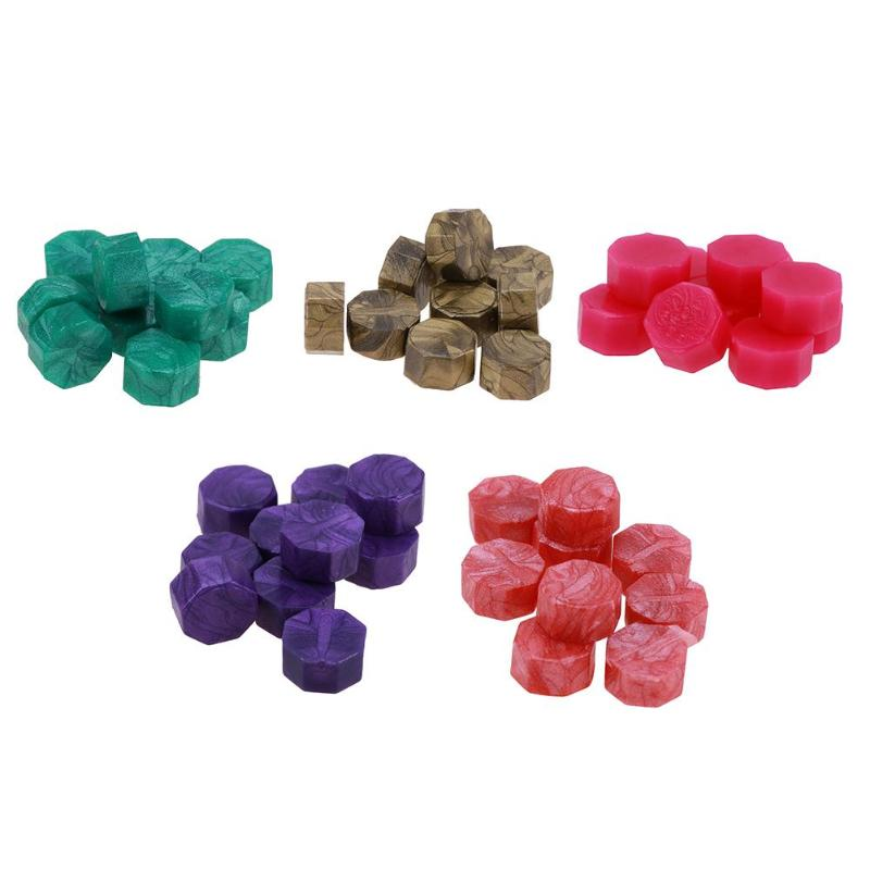 100pcs/lot Retro Vintage Sealing Wax Tablet Pill Beads Wax Seal Granule for Envelope Wedding Ancient Sealing Wax