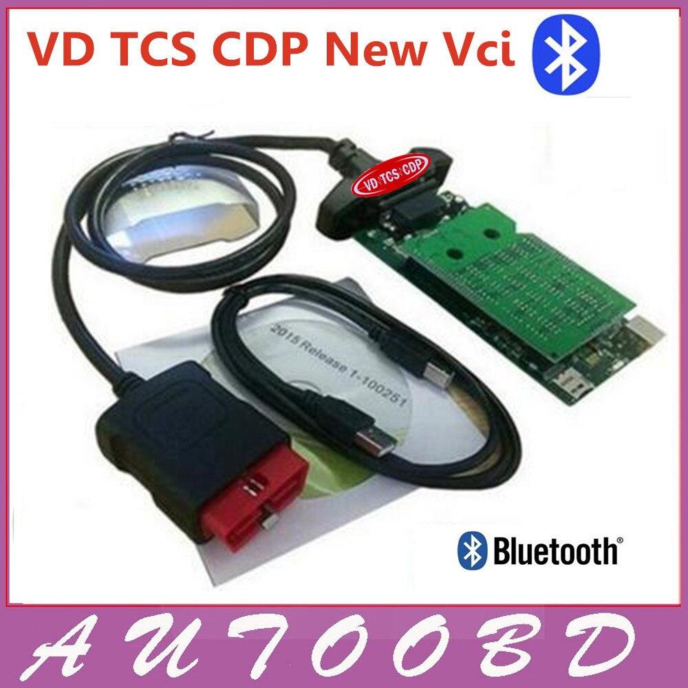 Новое поступление новый VCI CDP с самым лучшим чип печатной платы 3.0 Версия VD TCS CDP Pro Plus Bluetooth для OBD2/ OBDII автомобили и грузовых автомобилей