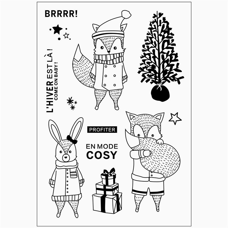 Cartoon characters pattern superwoman Stamp Scrapbooking New Alphabet Embossing Craft Silicone Transparent Stamps