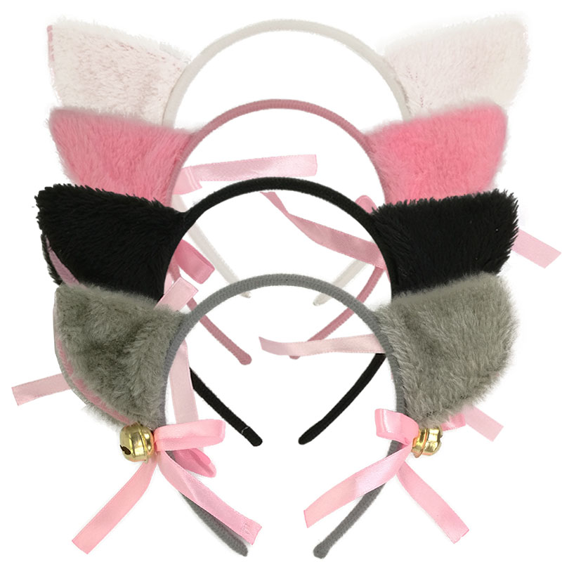 Hair accessories Cosplay Lolita Maid Gum for women Hair Party Neko Hairs Band Headband Bow Cat Ears  Cute charming Top tees orecchiette party s cat fox long fur ears anime neko costume hair clip cosplay 2017