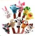 10 Pçs/lote Brinquedos de Pelúcia Do Bebê Dos Desenhos Animados Happy Family Fun Animal Dedo Fantoche de Mão Crianças Aprendizado & Educação Brinquedos Presentes Atacado